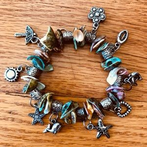 Colorful Shell Charm Bracelet